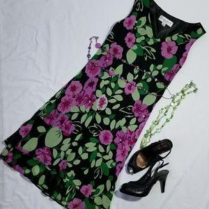 Stunning flower silk dress